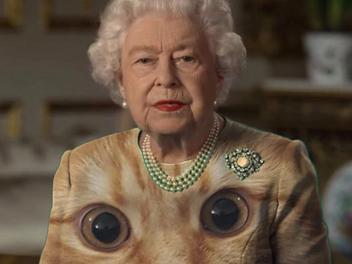英國女皇穿綠衣發表疫情電視演說,意外引發了PS改圖熱潮~~
