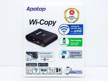 聊攝影:萬國 Apotop Wi-Copy DW21 WiFi 讀卡機 開箱試玩