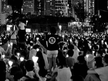 小談 紀實 攝影 之 香港 六四 25 週年 紀念 集會