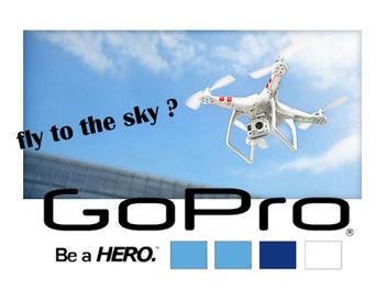 GoPro進軍空拍市場?擬明年推出四軸空拍飛行相機?