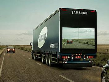 大貨車車尾可LiveView車前路況!?Samsung Safety Truck讓他人超車更安全?