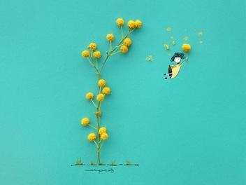 實物與插畫經典結合,浪漫童話風格的創意攝影作品