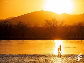 頤和園醉夕陽,紀錄日落時分的暮色光景
