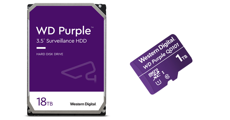 WD推出全新WD Purple 18TB HDD、WD Purple microSD記憶卡1TB,預計10-11月間陸續販售
