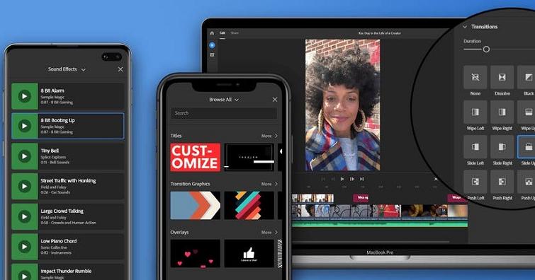 帶來全新的圖形和音訊瀏覽體驗!Premiere Rush:全新圖形與音訊瀏覽器以及豐富的程式內容
