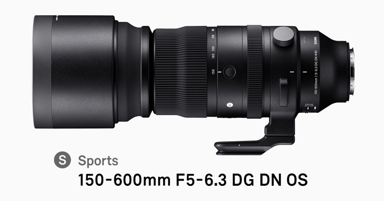 SIGMA發布首款用於無反相機的Sports系列鏡頭150-600mm F5-6.3 DG DN OS,建議售價198,000日圓