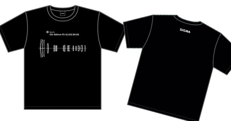 SIGMA 150-600mm F5-6.3 DG DN OS   Sports 鏡頭結構圖 T恤發售,建議售價約NT$ 750