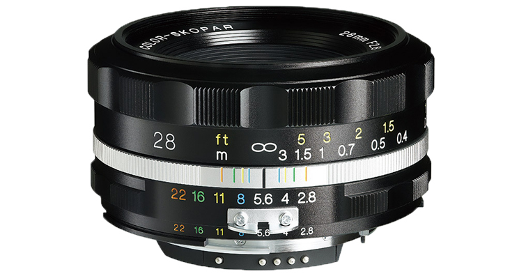 福倫達COLOR-SKOPAR 28mm F2.8 ASPH SLIIS 10月發售預定,建議售價NT$ 16,000
